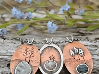 Copper Wonderland Pendants with Great Lakes Stones