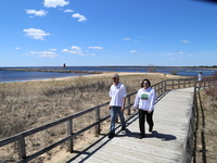 Manistique Boardwalk on top of Lake Michigan
