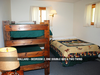 Mallard - Bedroom 2, One Double Bed & Two Twins
