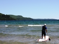 paddleboard waves of Lake Superior
