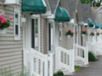 Cozy cottages with parking at your door.