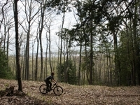 Biking on trails throughout the 1100 acre property