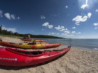 Sea kayaking on Lake Superior