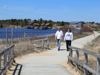 Manistique Boardwalk by the Marina