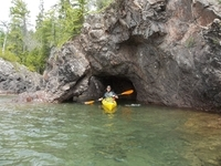 The all inclusive package takes you kayak through the caves