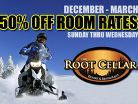 50% OFF ROOM RATES