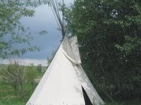 Stay in one of our new tipi's!