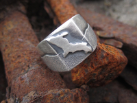 Sterling Silver Upper Peninsula Men's Signet Ring