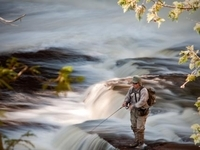 Porcupine Mountains Fisherman, Photo by Tim Feathers