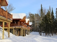 Cross Country skiing right out your door of your log cabin