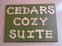 Signage for the Vacation Apartment
